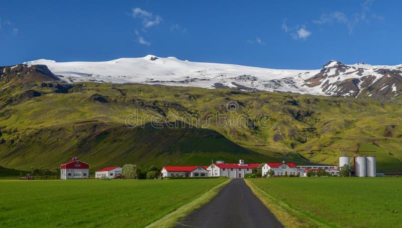 Haniebny Eyjafjallajokull wulkan, Południowy Iceland obraz royalty free