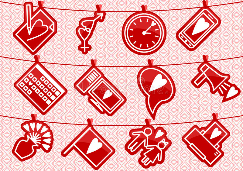 Download Haning Love Icons Royalty Free Stock Image - Image: 36598796