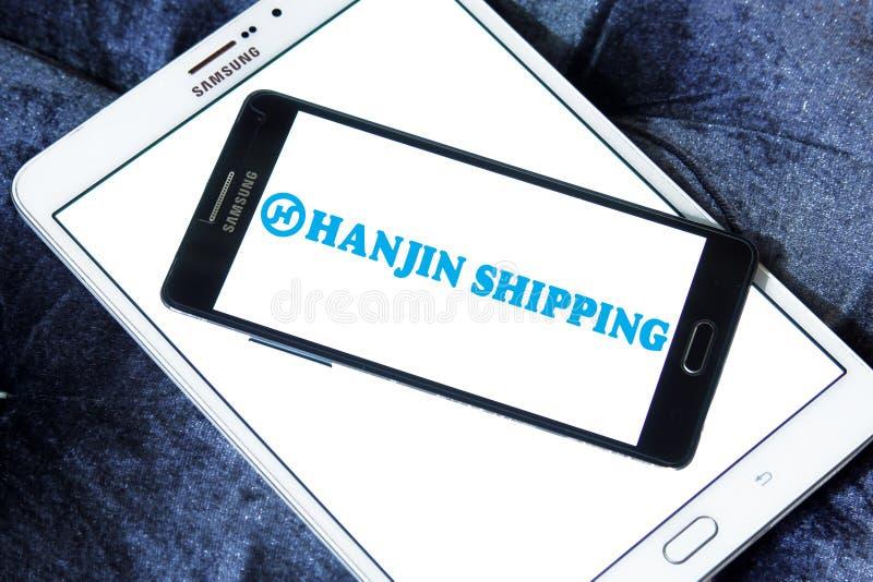 Hanjin运输商标 库存照片