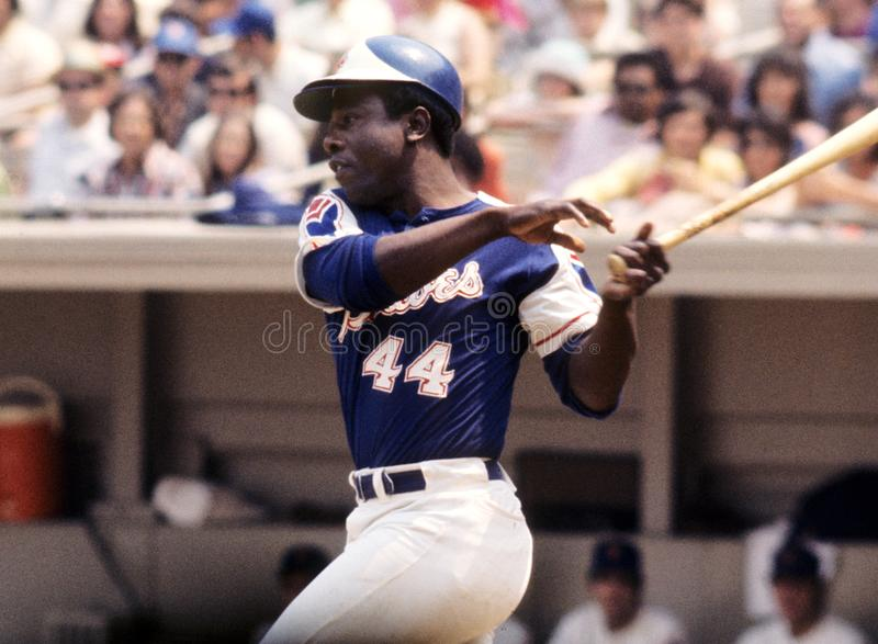 Hank Aaron Atlanta Braves fotos de archivo