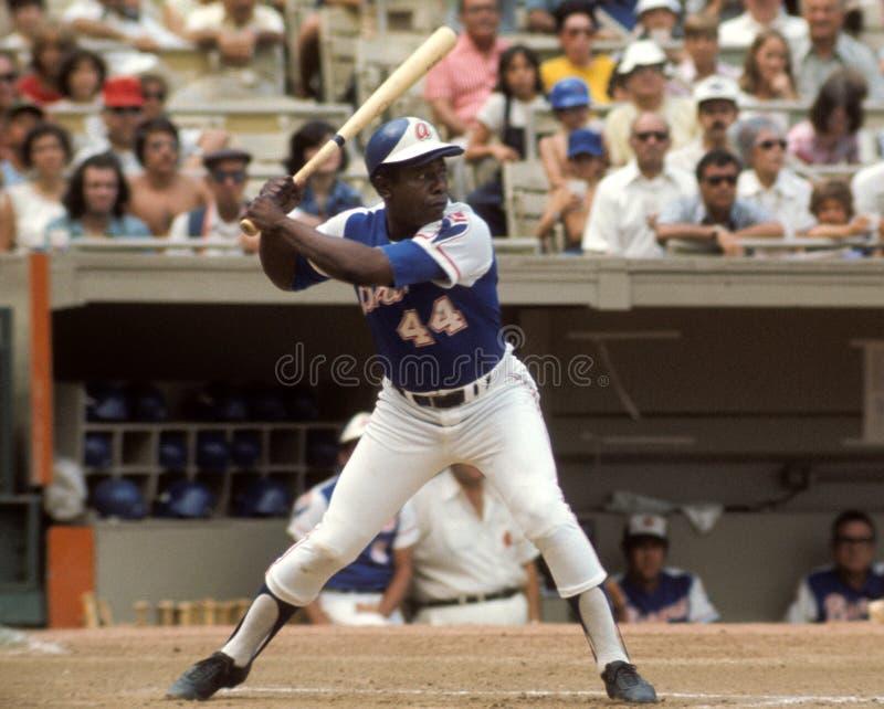 Hank Aaron Atlanta Braves lizenzfreie stockbilder