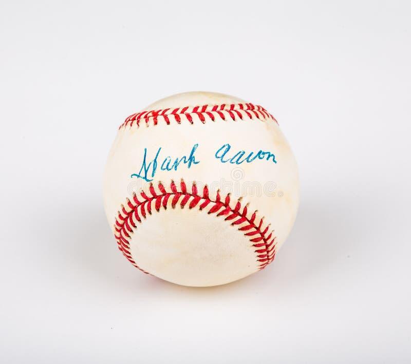 Hank Aaron Baseball lizenzfreie stockfotografie