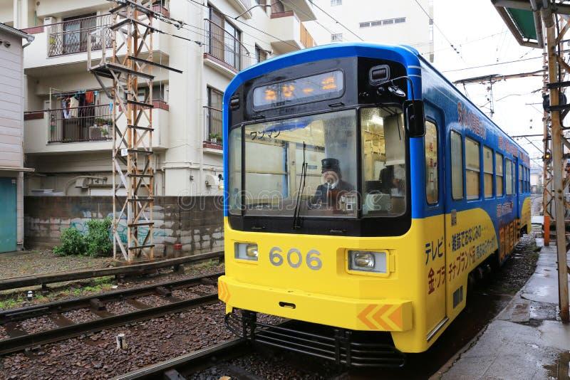 Hankai tramwaj w Osaka czule zna jako podbródek zdjęcie royalty free