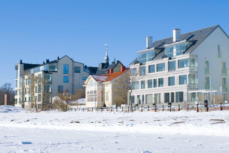 Hanko, giorno soleggiato di febbraio finland immagini stock