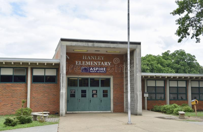 Hanley Elementary, aspirent école d'Etat Memphis, TN photographie stock