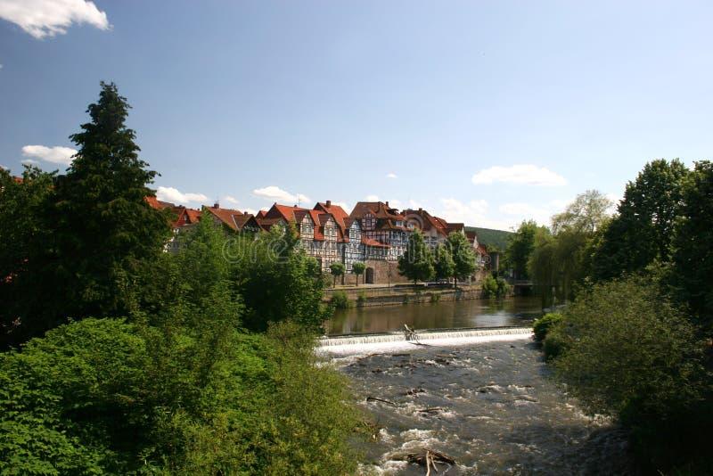 Hann Münden em Alemanha foto de stock royalty free