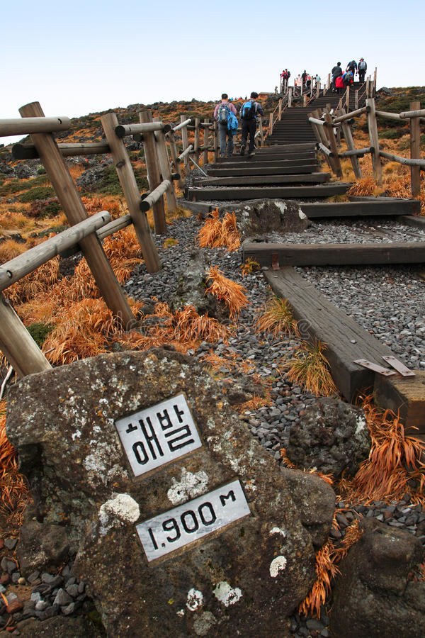 Hanna Mountain,Jeju Volcanic Island,Korea Editorial Stock Photo