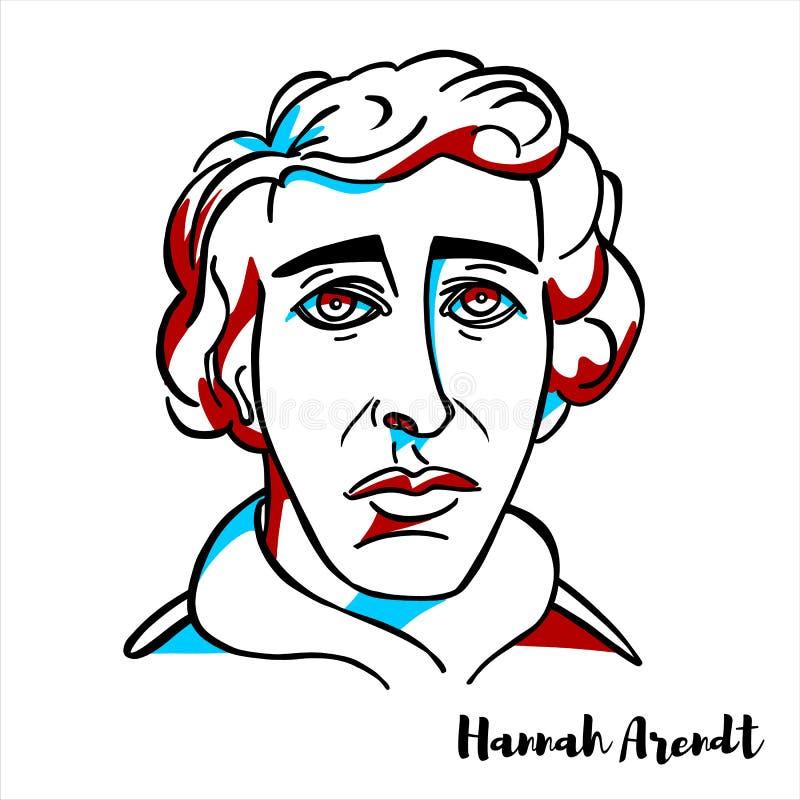 Hannah Arendt portret royalty ilustracja