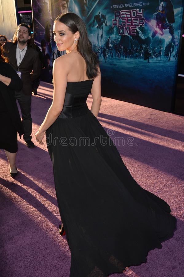 Hannah John-Kamen. LOS ANGELES, CA. March 26, 2018: Hannah John-Kamen at the premiere for Ready Player One at The Dolby Theatre..© 2018 Paul Smith/ stock photography
