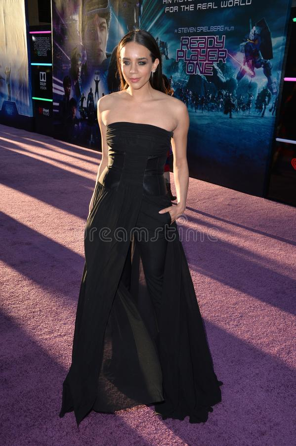 Hannah John-Kamen. LOS ANGELES, CA. March 26, 2018: Hannah John-Kamen at the premiere for Ready Player One at The Dolby Theatre..© 2018 Paul Smith/ stock images