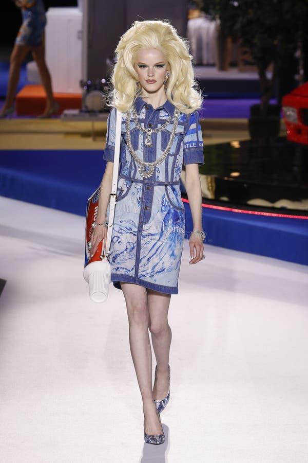 Free Hannah Motler Walks The Runway At The Moschino Show At Milan Fashion Week Autumn/Winter 2019/20 Stock Image - 143955641