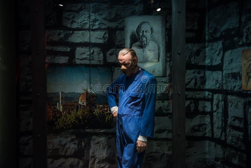 Hannibal Lecter, escultura de la cera, señora Tussaud imagenes de archivo