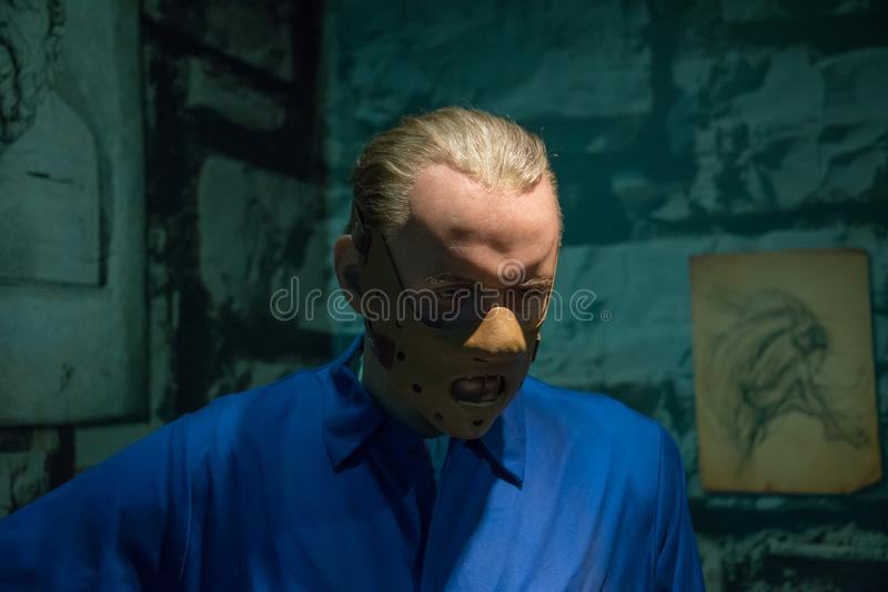 Hannibal Lecter im Museum von Madame Tussauds lizenzfreies stockfoto