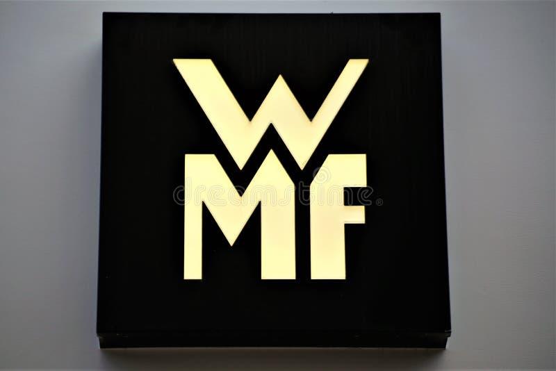 Hannover/Alemania - 11/13/2017 - una imagen de un logotipo de WMF fotografía de archivo