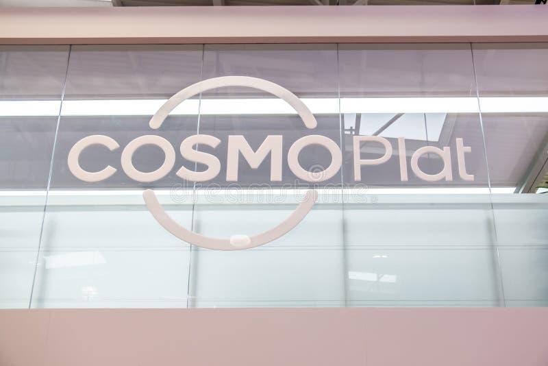 Hannover, Germania - 2 aprile 2019: il cosmoPlat sta visualizzando le nuove innovazioni a Hannover Messe immagine stock libera da diritti