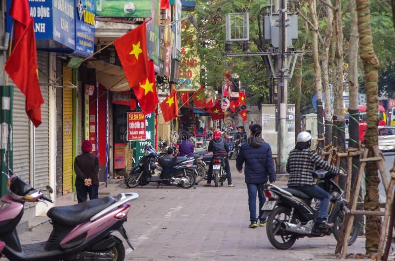 HANOÏ, VIETNAM - 1er janvier 2015 : Ville de Hanoï en hiver photographie stock