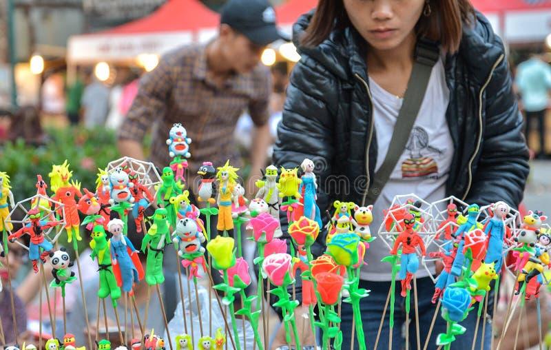 Hanoï, Vietnam - 19 février 2107 : Jouets traditionnels vietnamiens calorie photo stock