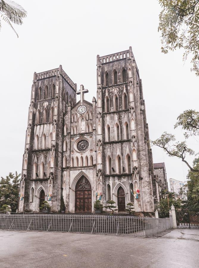 HANOÏ, VIETNAM - 8 MARS 2017 Cathédrale du ` s de St Joseph à Hanoï, Vietnam images libres de droits