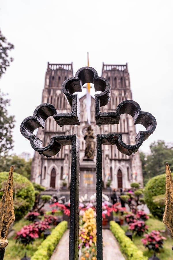 HANOÏ, VIETNAM - 8 MARS 2017 Cathédrale du ` s de St Joseph à Hanoï, Vietnam photo libre de droits