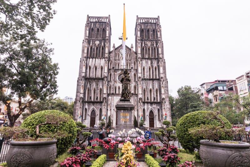 HANOÏ, VIETNAM - 8 MARS 2017 Cathédrale du ` s de St Joseph à Hanoï, Vietnam photo stock