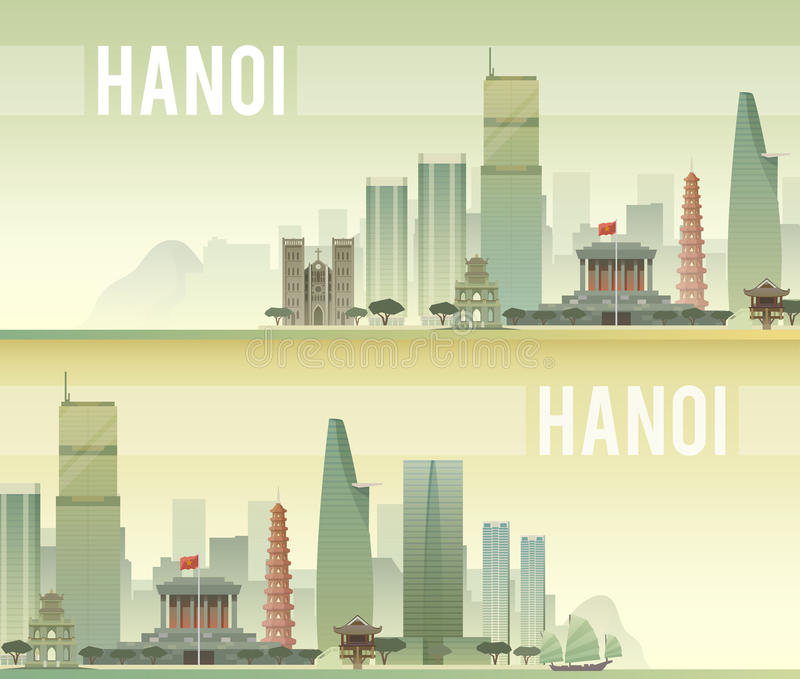 hanoi также вектор иллюстрации притяжки corel иллюстрация штока