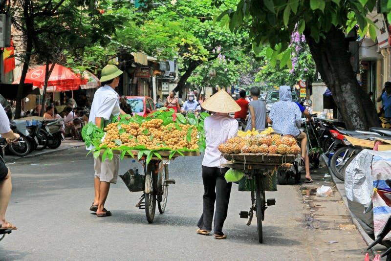 Hanoi Bicycle Street Vendors, Vietnam stock photos