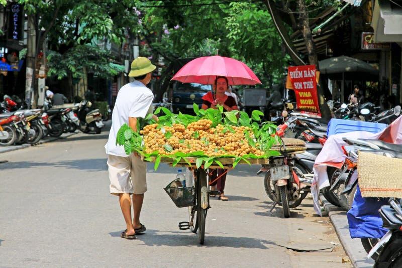 Hanoi Bicycle Street Vendors, Vietnam royalty free stock photography