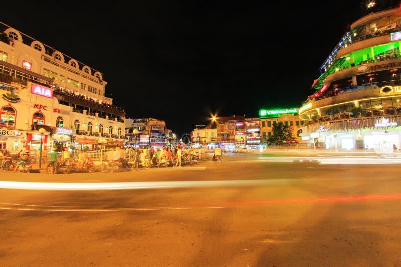 Hanoi Cityscape at Night, Hanoi Vietnam stock image