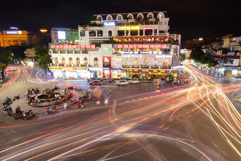 Hanoi Famous Roundabout stock images