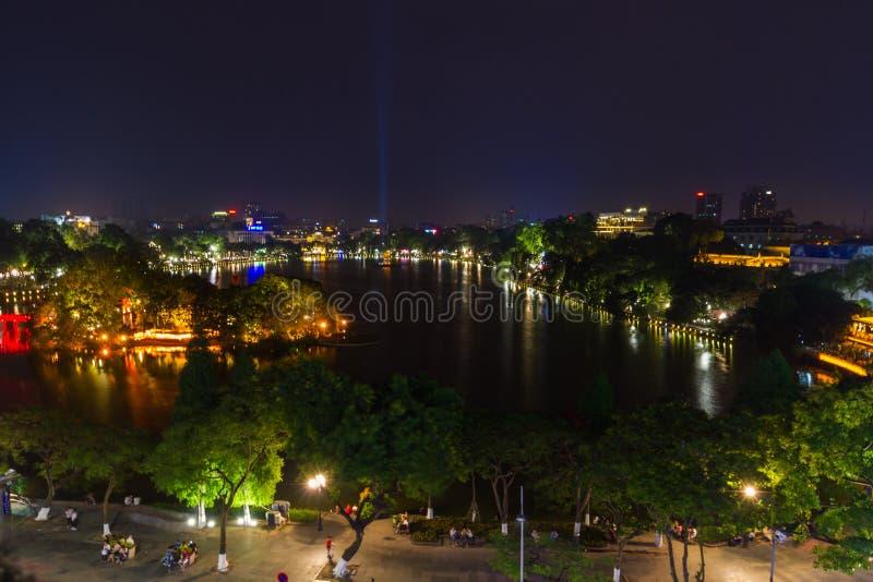 Hanoi horisont arkivfoto