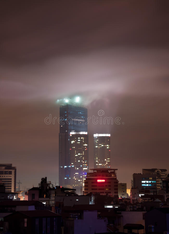 Download Hanoi Landmark Tower At Night Stock Image - Image: 20599923