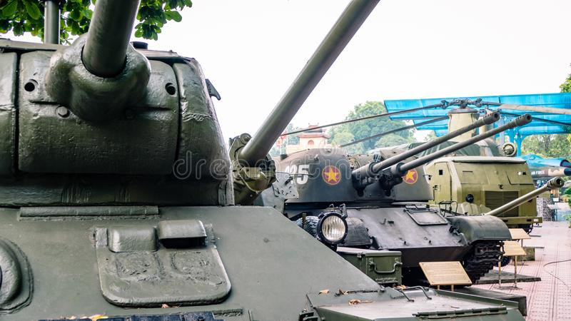 Hanoi Miltary Hardware from the war on display royalty free stock images