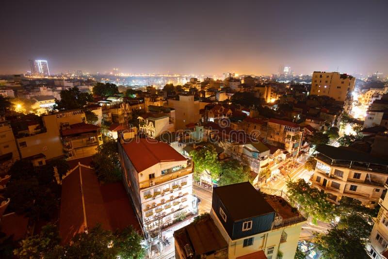 Hanoi Night View royalty free stock photography