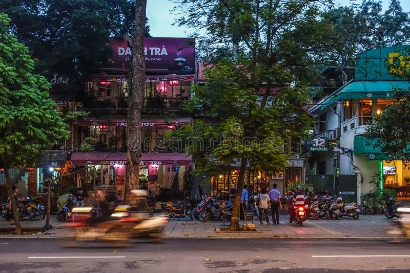 Hanoi nocą zdjęcie stock