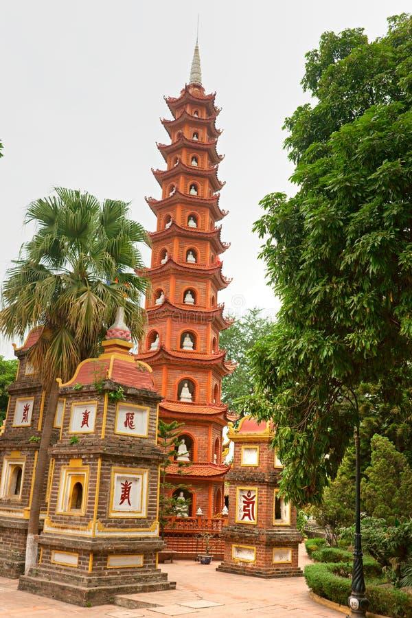 hanoi pagodowy quoc tran Vietnam obraz stock