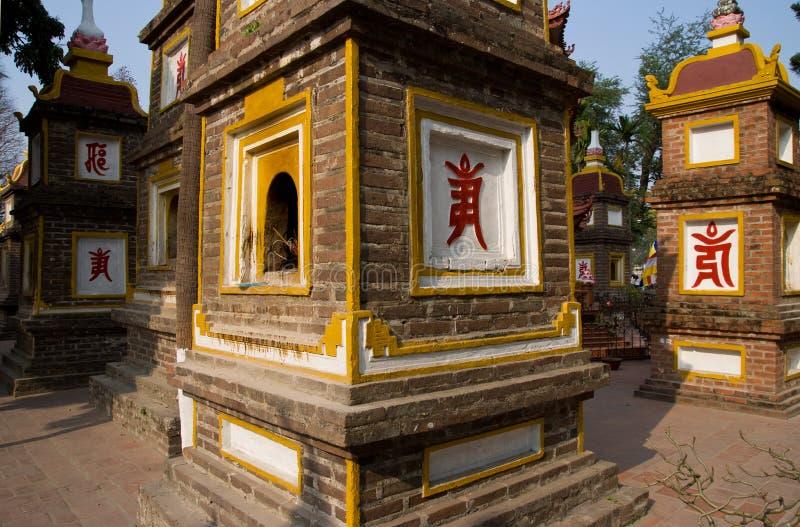 hanoi pagodowy quoc tran Vietnam fotografia stock