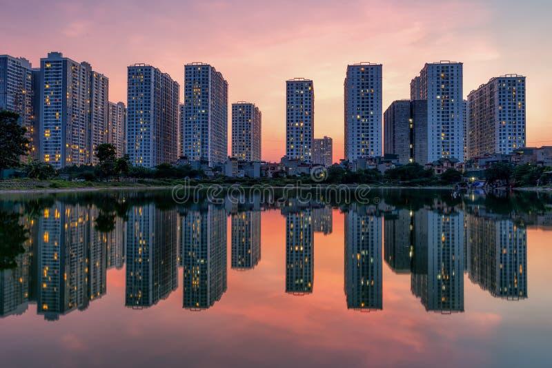 Hanoi skyline royalty free stock images