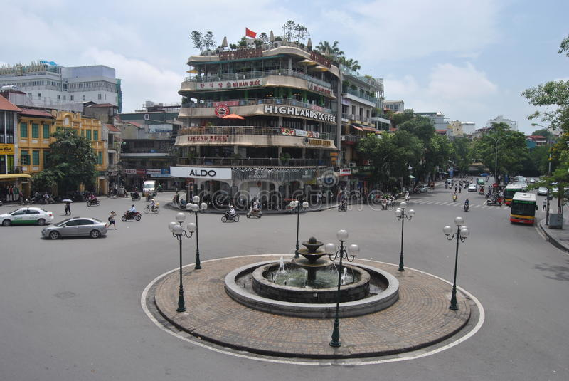 Hanoi stad Vietnam arkivbilder