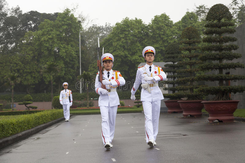 HANOI - Strażnik honor zdjęcia royalty free