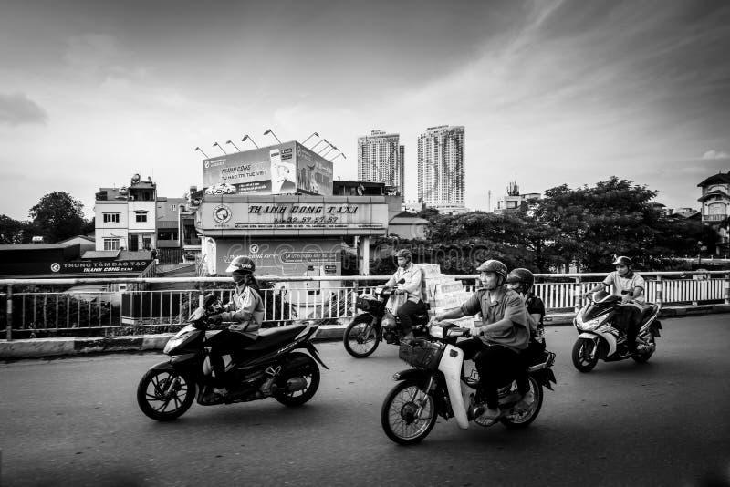 Hanoi Daily Traffic royalty free stock photography