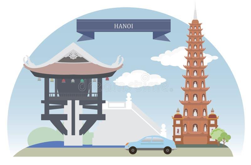 Hanoi, Vietnam vector illustratie