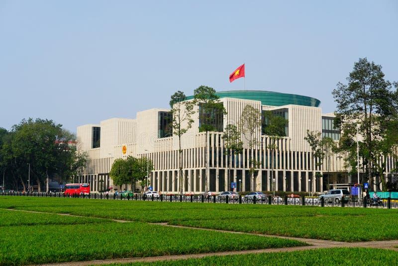 Hanoi, Vietnam - 4 de marzo de 2017: El parlamento de Vietnam contiene fotos de archivo