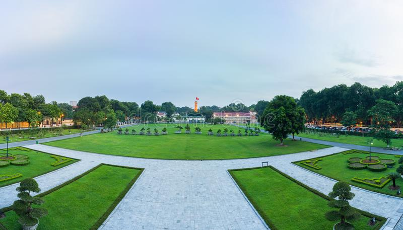 Hanoi, Vietnam - July 12, 2016: Ground of Imperial Citadel of Thang Long in Hanoi royalty free stock photo