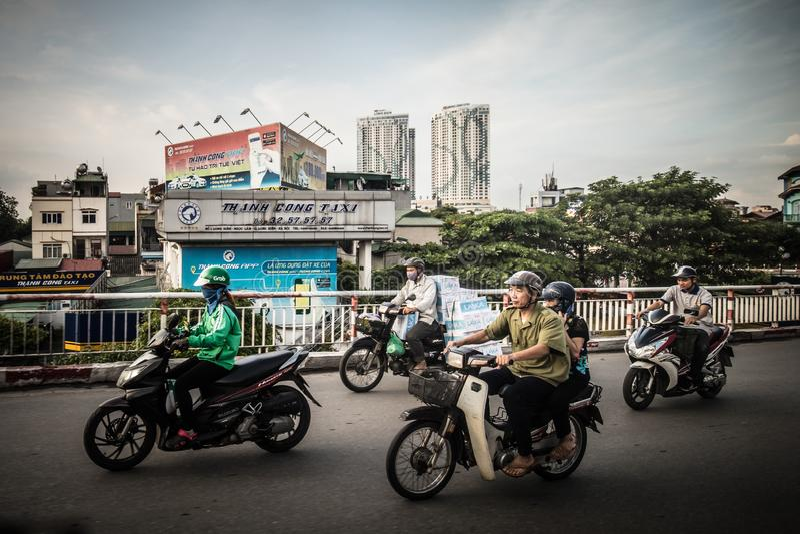 Hanoi Daily Traffic stock images