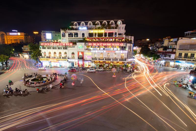 Hanoi Famous Roundabout royalty free stock image