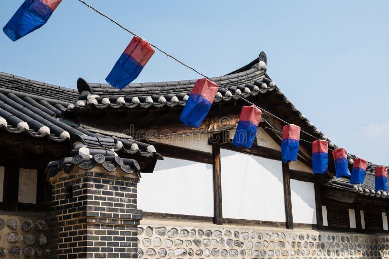 Hanokhuis Korea royalty-vrije stock foto's
