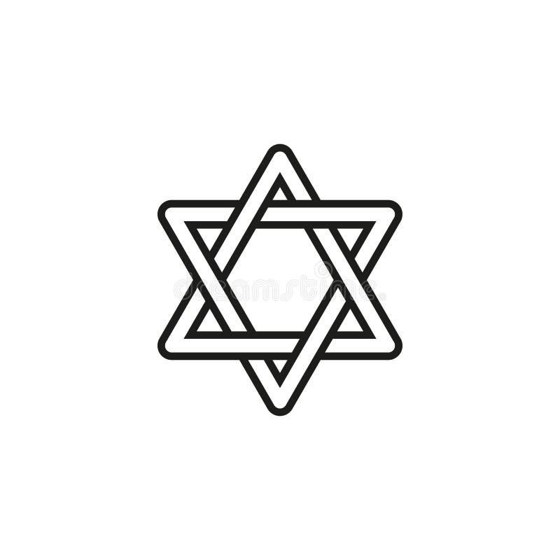 Hanoucca d'icône de vacances le jour heureux illustration libre de droits