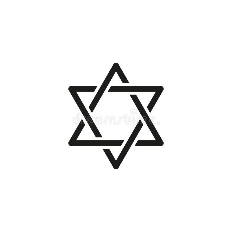 Hanoucca d'icône de vacances le jour heureux illustration de vecteur