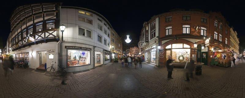 HANOVER, DUITSLAND - NOVEMBER 29, 2011: Traditionele Kerstmismarkt in oud Hanover royalty-vrije stock foto
