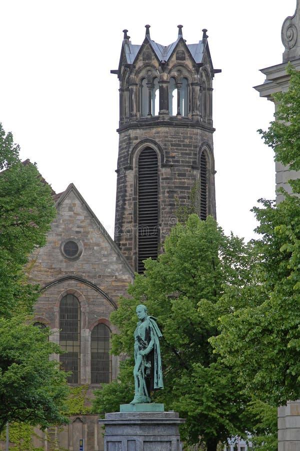 Hanover reformou a igreja evangélica imagens de stock royalty free